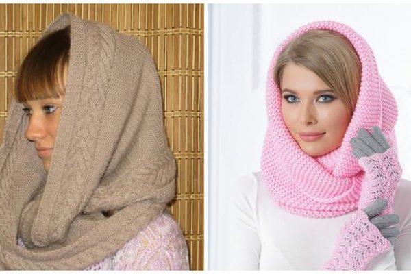 шарф снуд крючком схемы как связать оригинальный шарф снуд спицами
