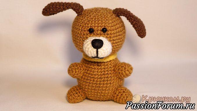 вязание игрушки собаки вязанные игрушки с описанием собачки
